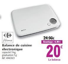 balance de cuisine electronique carrefour promotion balance de cuisine électronique produit