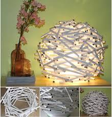 Wonderful DIY Birds Nest Shaped Lamp From Newspaper Tube