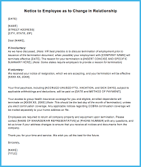 Sample Termination Letter for Letting an Employee Go