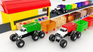 Learn Colors With MONSTER GARBAGE TRUCK Colors For Kids To Learn ...