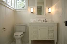 Guest Half Bathroom Decorating Ideas by Small Bathroom Design With Creamy White Guest Bathroom Creamy