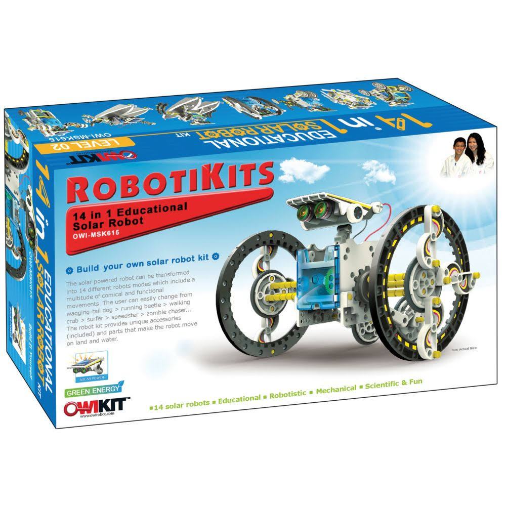 Sluban 14-In-1 Educational Solar Robot Kit - 14 Pieces