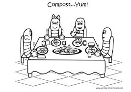 Worm Coloring Pages Family Dining This Is A Free Page Its