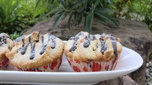 heidelbeer marzipan muffins kaffee keks und kuchen