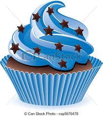 Blue Cupcake Vector