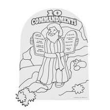 BMoses Ten Commandments Coloring Page B