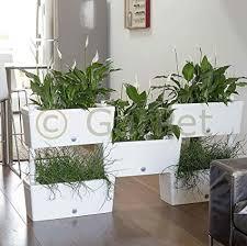 bama spa pflanzkübel raumteiler innen aussen sichtschutz pflanzkasten terrasse 5er set weiß