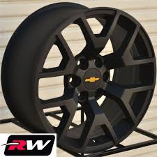 100 Chevy Silverado Truck Parts 2014 GMC Sierra Wheels Rims 22x9 Matte Black 22 Inch Fit
