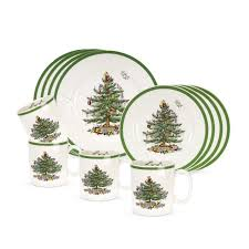 Spode Christmas Tree Mugs With Spoons by Dinnerware Lenox Christmas Dinnerware Mickey Mouse Christmas