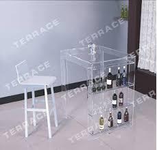 flach verpackt acryl pub mini bar tisch mit lagerung wein