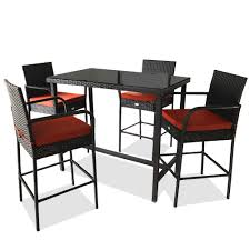 JETIME Patio Bar Stools Set Furniture Dining Set Rattan Table SND Chairs PE  Wicker Bar Set Stools Table Set Outdoor Indoor Both Use (Armrest Chair, ... 315 Round Alinum Table Set4 Black Rattan Chairs 8 Seater Ding Set L Shape Sofa Brown Beige Garden Amazoncom Chloe Rossetti 17 Piece Outdoor Made Coffee Table Set Stock Photo Image Of Contemporary Hot Item Modern Fniture Stainless Steel And Lordbee Large 5 Pcs Patio Wicker Belleze 3 Two One Glass Details About Chair Cushion Home Deck Pool 3pc Durable For Pcs New Y7n0