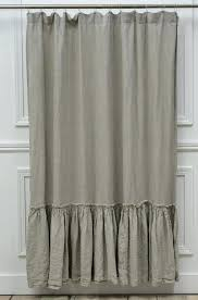 Kohls Double Curtain Rods by Ruffle Shower Curtain With Brown Ceramic Floor For Modern Bathroom