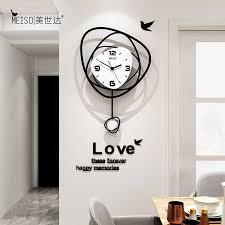 große nicht tickt acryl swingable dekorative pendel wanduhr