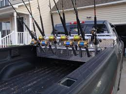 Truck Bed Toolbox Rod Rack - The Hull Truth - Boating And Fishing ... Homemade Rod Holders For Back Of Truck The Hull Truth Boating Rack Tacoma Rails And Fishing Forum Diy Custom Truck Bed Holder For Pick Up Boat Outfitters Truck Bed Rod Carrier Pipe Bender Mount Rod Rack Surf Pinterest Fish Pics Of Front Bumper Holders Page 3 Beach Buggy 32 Flag Pole And Toolbox Mounting Titan 2 Nissan Diyrodholdernight Projects To Try Bed