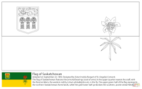 Click The Flag Of Saskatchewan Coloring Pages To View Printable Version Or Color It Online Compatible With IPad And Android Tablets