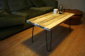 Recycled Pallet Coffee Table With Metal Legs