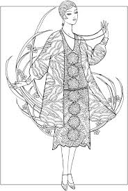 Creative Haven Jazz Age Fashions Coloring Book Free ColoringAdult PagesColoring