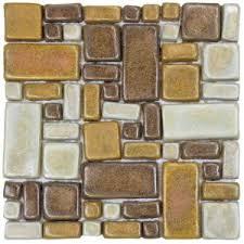 merola tile cobble brick cimarron 12 in x 12 in x 12 mm ceramic
