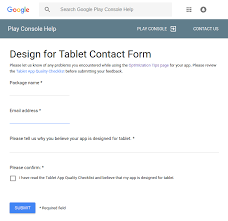 android Falsely judged not Designed for tablets list in the