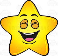 Laughing Gold Star Cartoon Emoji