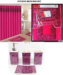 amazon com 3 piece bath towel set black pink zebra print wash