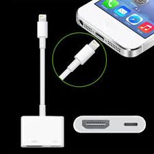 Lightning to Digital AV TV HDMI Cable Adapter For iphone 5 6 6S 7