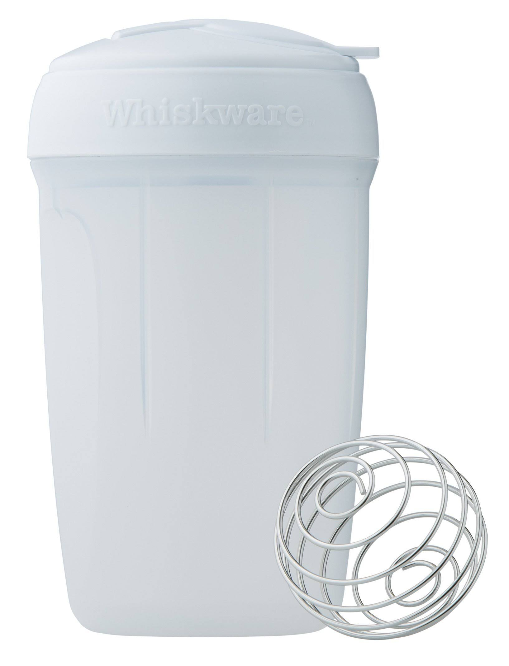 Whiskware Egg Mixer - with Blenderball Wire Whisk, White