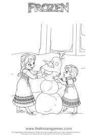 Frozen Coloring Pages Want To Build Snowman