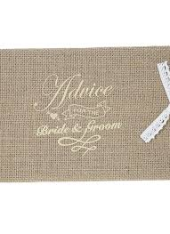 Vintage 72 Pages Burlap Cover Wedding Guest Book Rustic Style Hardcover Double Sided