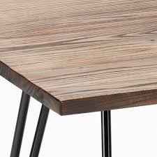 industrie stil tisch holz stahl 80x80 bar esszimmer restaurant hammer