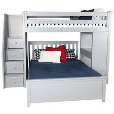 Zoomie Kids Alvarez Staircase bo Twin Over Full Loft Bed