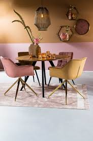 esszimmerstuhl jaimy samt alt rosa gold