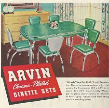 Arvin Chrome Plated Dinette Sets 1950s