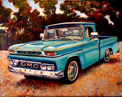 100 65 Gmc Truck The Art Of Michael R Gaudet GMC Painting