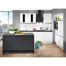 inselküche uv lack weiß hochglanz lacklaminat schwarz matt 240 150 150 cm