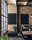 wohnzimmer im industriestil stockfoto und mehr bilder
