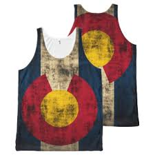 Vintage Rustic Flag Of Colorado All Over Print Tank Top
