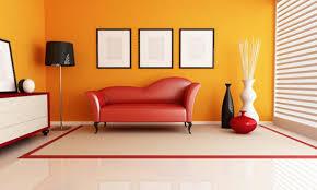 orange wall paint living room peenmedia