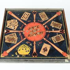 Vintage 1930 San Loo Chinese Checkers Ante Up Rummy Game Board