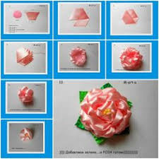 How To Make Rose From Voile Ribbon Step By DIY Tutorial Instructions