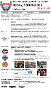 Smoky Mountain Harley Davidson The Shed by Bike Tour 2017 Schedule Baggers