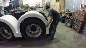 100 Fiberglass Truck Fenders Talladega Installation Of Peterbilt Air Leaf And Old