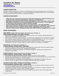 Project Manager Resume Objective Management For Marketing Sports Large Size