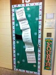 Classroom Door Christmas Decorations Ideas by Easy Holiday Door Decor For The Classroom Description From