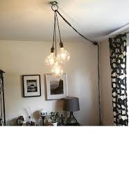 Unique Chandelier PLUG IN Modern Hanging Pendant Lamp Industrial Lighting Ceiling Fixture Antique Or LED Bulbs