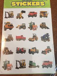 100 240 Truck Amazoncom CONSTRUCTION Vehicle TRUCK Photo Stickers Backhoe