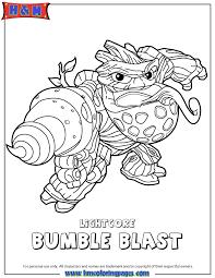 Skylanders Swap Force Life Lightcore Bumble Blast Coloring Page