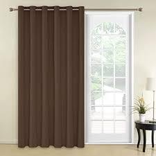 deconovo blickdichte gardinen vorhang mit ösen schlafzimmer ösenvorhang 290x200 cm braun 1 stück