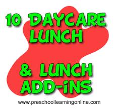 Healthy Preschool Lunch Ideas Menus Snacks