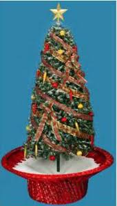 6 Pre Lit Musical Snowing Rotating Artificial Christmas Tree With Red Base